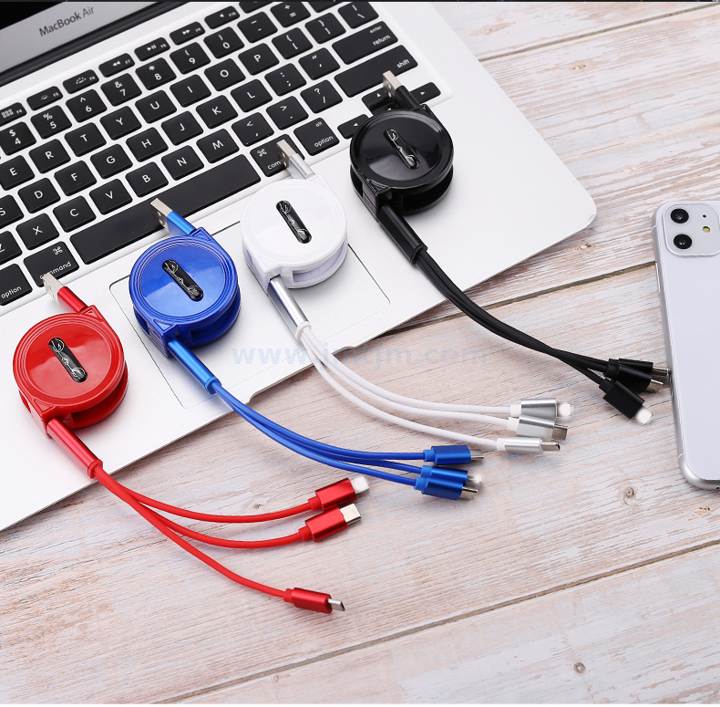USB 3 IN 1 Stretch Cable TYPE-C/Micro/Lightning