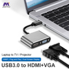USB3.0-A 2 IN1 HUB (VGA /HDMI)