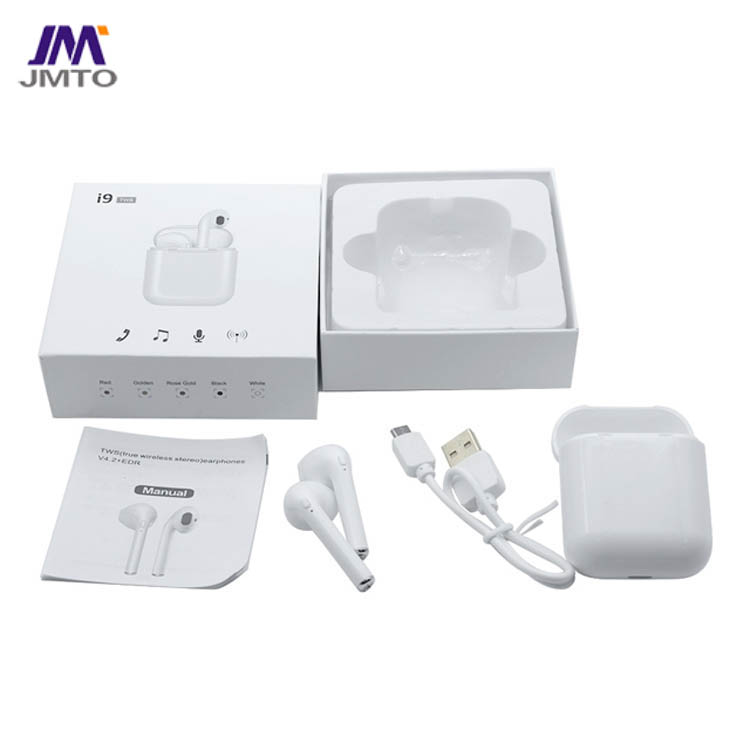 I9 TWS earphone, Jieli V5.0 chipset, half in ear confortable design